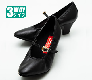 """コンサート用ピアノシューズ """"アプロディーテ""""(ブラック・天然皮革)"""